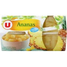 Coupelles de fruits Ananas U, 4x452g