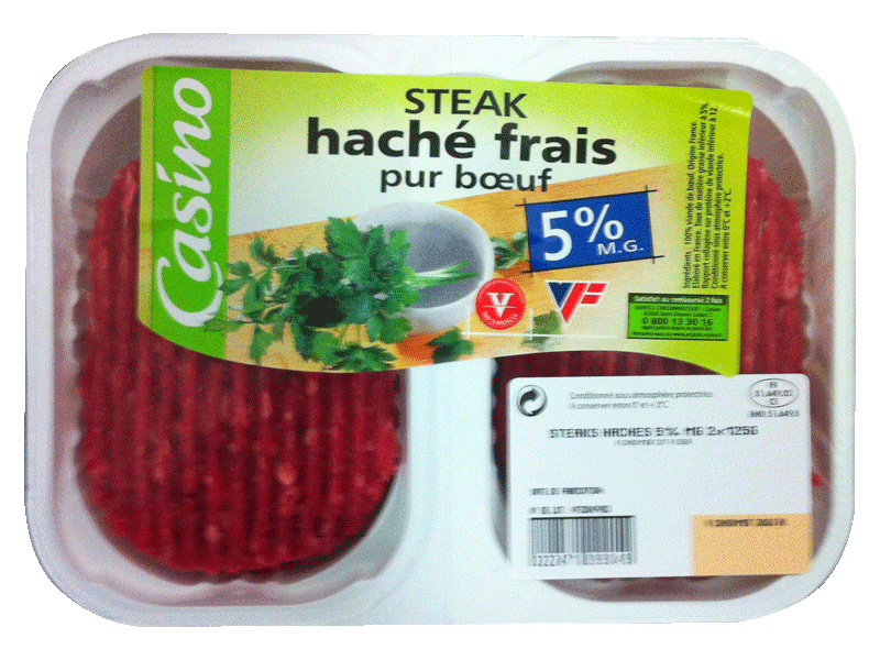 Steacks haches 5 % MG - Les 2