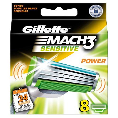 lames pour rasoir mach 3 sensitive gillette 8 recharges tous les produits rasoirs lames