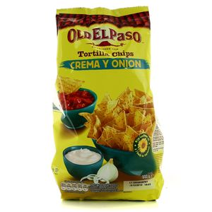 Old el paso tortilla chips crema y onion 12x200g