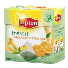 The vert aromatise mandarine orange, sachets pyramid, la boite de 20 - 36g
