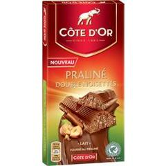 Cote d'or, Fourre praline noisettes, la tablette de 200 gr