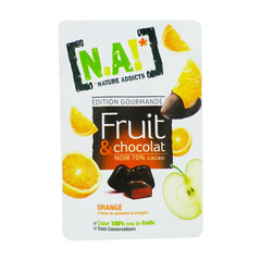 N.A fruit & chocolat orange sachet de 35g