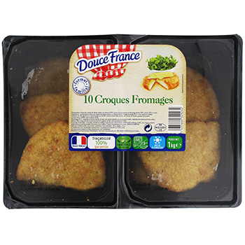Croques-fromages a la dinde Douce France, 10 pieces, 1kg