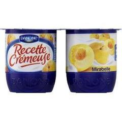 Recette Cremeuse 125 G X 4 Mirabelle