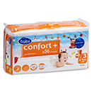 Auchan baby changes confort jumbo midi 4/9kg x56 taille 3