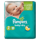 Couches baby dry taille 2 (3/6kg) PAMPERS paquet x33