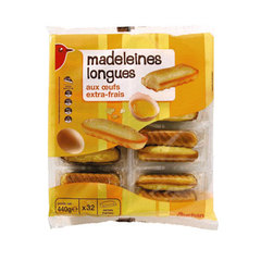 Madeleines longues aux oeufs extra-frais - 32 madeleines