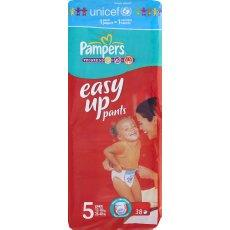 Culottes Easy Up Geant junior PAMPERS, taille 5, 12kg et plus, 38 unites