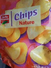 Belle France Chips Nature 100 g - Lot de 10