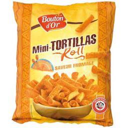 Mini tortillas roll fromage, le sachet de 125g