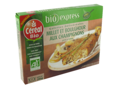 Galettes Cereal bio Millet champignons 200g