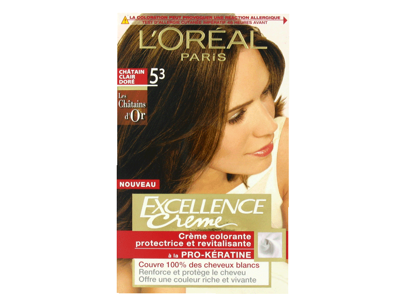 Coloration permanente EXCELLENCE, chatain clair dore n°5-3