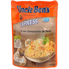 Riz express 2mns Uncle Ben's Aux chanpignons 250g