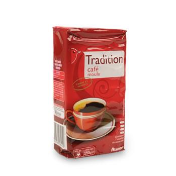 cafe moulu tradition auchan 250g tous les produits caf s moulus en grains prixing. Black Bedroom Furniture Sets. Home Design Ideas