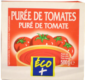 PUREE DE TOMATE ECO+ BRIQUE 500G