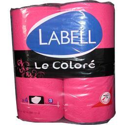 Labell Papier Toilette Fushia Le Color Le Paquet De 4
