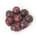 prunes rouges en barquette selection 750g