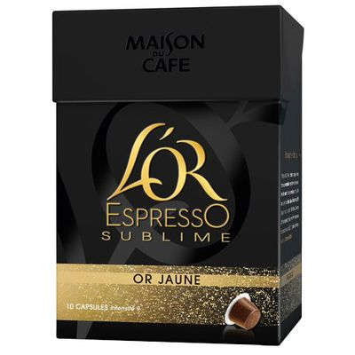 Cafe L'Or Espresso Maison Cafe Sublime jaune x 10 capsules 52g