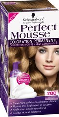 Coloration permanente sans ammoniaque PERFECT MOUSSE, blond fonce n°700