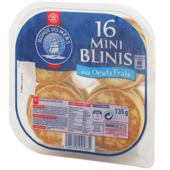 Mini blinis Ronde des Mers x16 135g