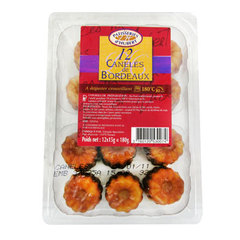 12 Mini caneles de Bordeaux LES PATISSERIES D'HUBERT, 180g