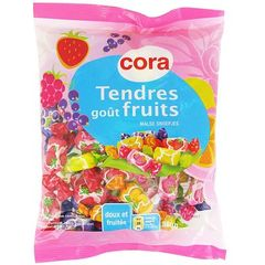 Bonbons tendres gout fruits
