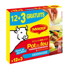 Maggi bouillon pot au feu degraisse tablette x12 8.1l