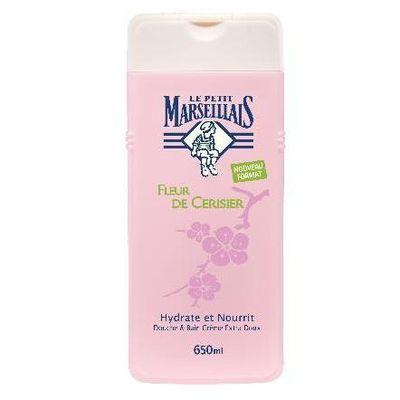 Le petit marseillais douche et bain fleur de cerisier 650ml tous les produits gels douche for Petit bain douche