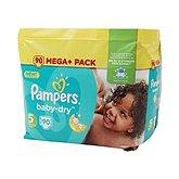 Couches baby dry méga + taille 5 (11-25kg) PAMPERS, 90 unités