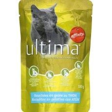 Aliment pour chat Bouchees en Gelee au thon ULTIMA, 100g