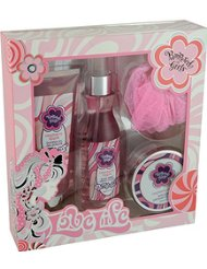 Gloss! Coffret de Bain Pampered Girls Framboise 4 Pièces