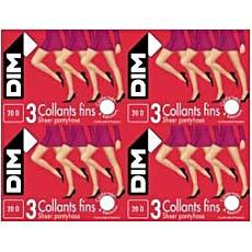 3 Collants mousse fins DIM, taille 5, sarrazin