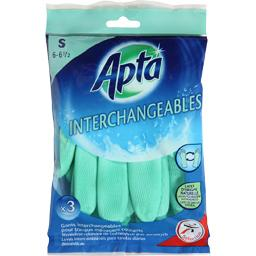 Apta, Gants interchangeables pour travaux menagers courants , S 6-6 1/2, le lot de 3