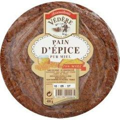 Pain depice pur miel BISCUITERIE VEDERE, 400g