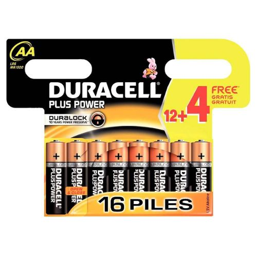 DURACELL : Plus Power - Piles LR6 AA
