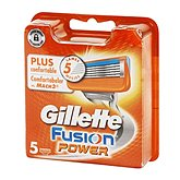 fusion power lames x 5 gillette