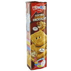 Rik & Rok - Biscuits fourres au chocolat - 16 biscuits Riches en cereales.