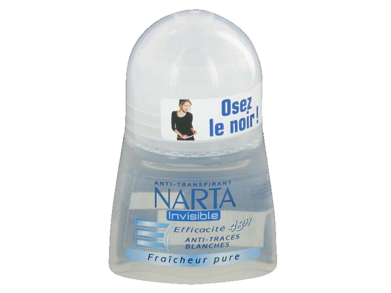 Anti-transpirant bille invisible, Narta 50ml