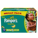 Pampers baby dry méga + x84 taille 5 +