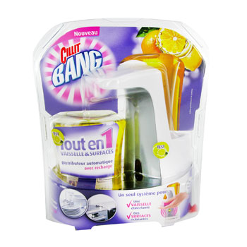 Tout en 1 distributeur automatique avec recharge piles parfum citron tous les produits - Distributeur liquide vaisselle ...
