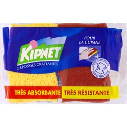Extra strong kitchen, tampons longue duree sur eponges vegetales, x2, le paquet