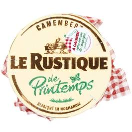 Camembert 20% de MG, à base de lait pasteurisé.Origine: France. Lieu de transformation: Normandie.