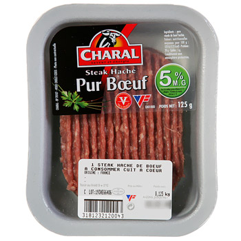 Charal steak haché 5% 125g