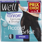 Well collant accord parfait opaque noir taille 4 x2