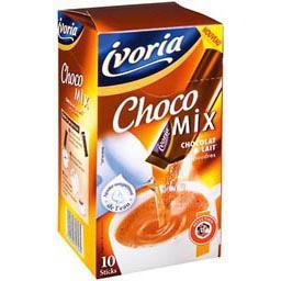 sticks de chocolat lait en poudre choco mix la boite de 10 250g tous les produits caf s. Black Bedroom Furniture Sets. Home Design Ideas