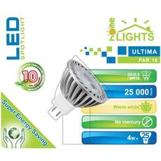 SPOT LED ULTIMA HOMELIGHTS 4W GU5,3 BLANC CHAUD