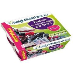 PRODUIT INACTIF - Weight Watchers fromage blanc sur fruits rouges 4x100g