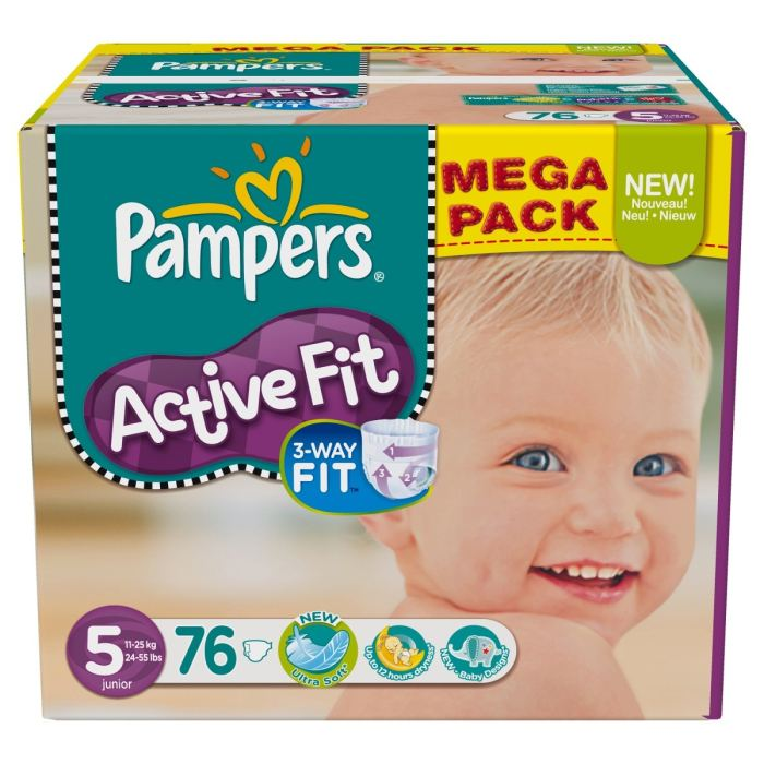 Pampers active fit junior megapack change x76 taille 5