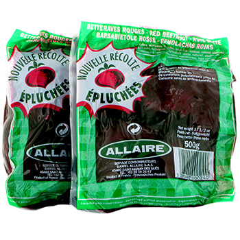 Betteraves epluchees Allaire Entieres 2x500g